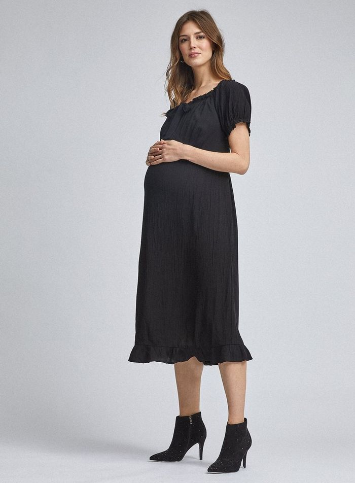 DP Maternity Black Circle Dress
