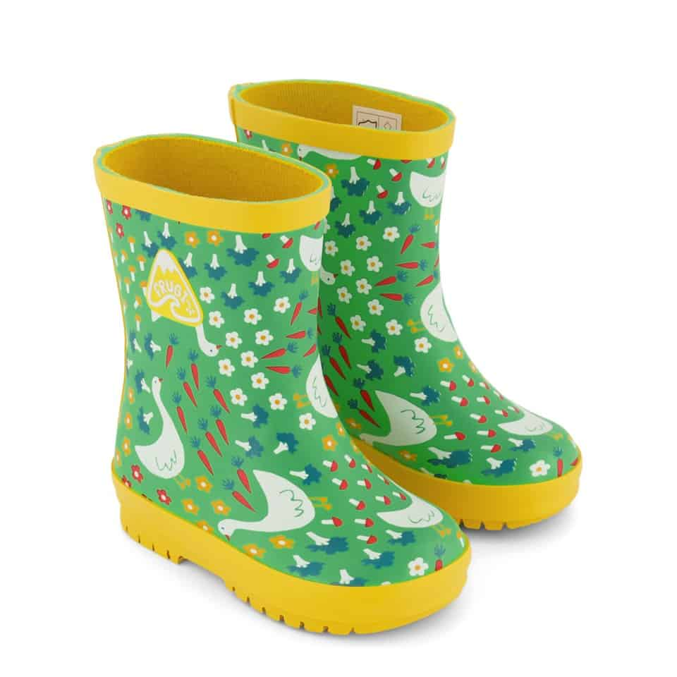 Frugi Springtime Geese Puddle Buster Rain Boots