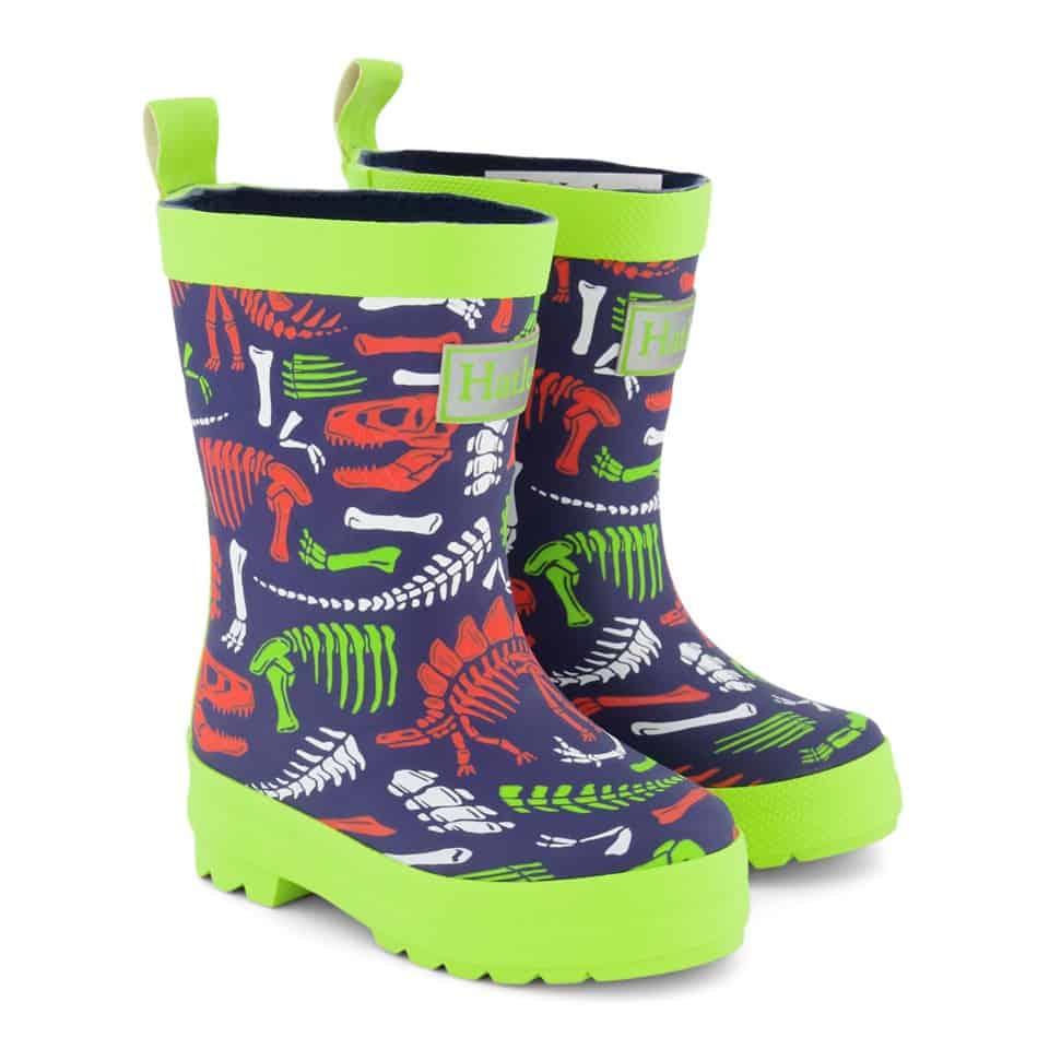 Hatley Green Dino Fossils Print Rain Boots