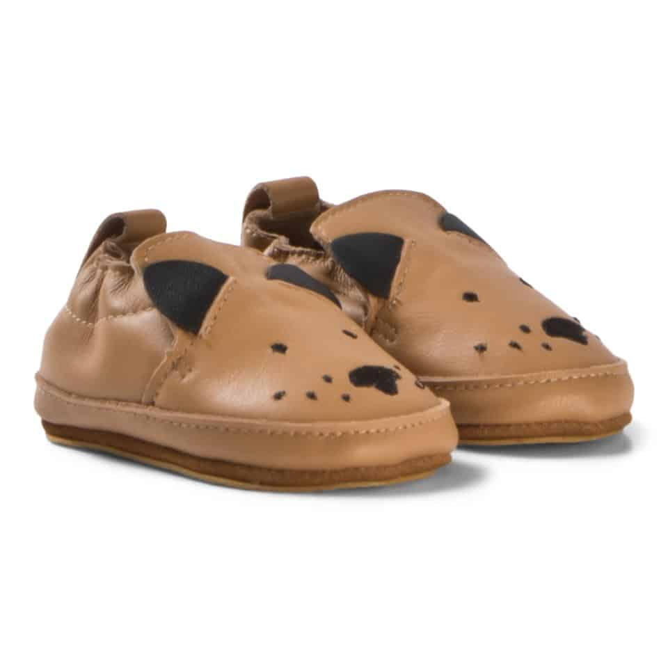 Melton Brown Luxury Leather Dog Shoe